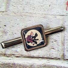 Unique ADVENTURES OF TINTIN TIE CLIP bar slide COMIC belgian SNOWY vintage RETRO