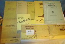10 Vtg HEATHKIT Manual Lot MI-31A/GD 600/GD 1B/HD 1984/VF 1/SG 6/ID 1590 J1177