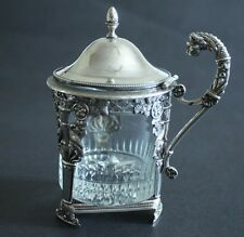 7-3Antique Paul & Dewallans 1905 French Neoclassical Sterling Silver Mustard Pot