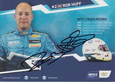 Robb Huff Hand Signed Chevrolet Promo Card Touring Cars.