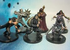 Dungeons & Dragons Miniatures Lot  Dark Evil Player Character Party !!  s100