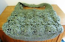 Pretty Paper Straw & Sequins Bag with Cotton Lining  Green