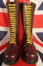 30%OFF1day UK10 Knightsbridge 20 Hole Goth Bordeaux/ Purple Yellow Laces S/Toe