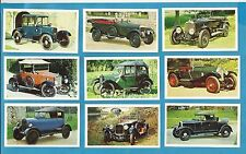 Sharman cigarette/trade cards - THE GOLDEN AGE OF MOTORING - Full mint set