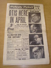 MELODY MAKER 1958 FEBRUARY 15 JOHNNY OTIS AVANT GARDE DUKE ELLINGTON ANKA +