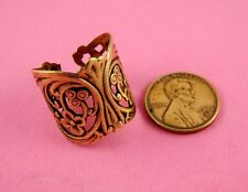 ANTIQUE BRASS ART NOUVEAU AJUSTABLE RING-1 PC(s)