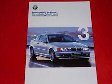 BMW 3er E46 Coupe 318Ci 320Ci 323Ci 328Ci Prospekt von 1999