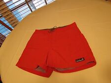 Men's Patagonia size 34 measures 33 Shorts swim trunks casual red EUC board @