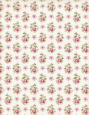 Vintage Flor Floral Print de fondo de pantalla Comestibles A4 * Glaseado Hoja *