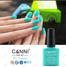 077 CANNI TURQUOISE BRIGHT UV LED SOAK OFF GEL COLORS NAIL ART 7.3ml UK SELLER