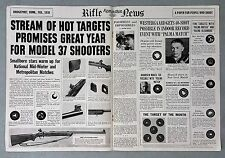 Vintage 1938 Remminton Rifle News -  Model 37 Shooters - 2 Page Centerfold AD