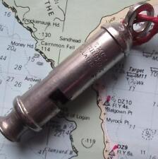 Vintage Plated c1920 Girl Guide Nickel ECMA ACME Whistle