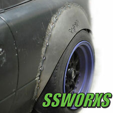 ssworx Miata NA and NB Fender Flares 4 piece metal Kyusha Mazda Wide Flare