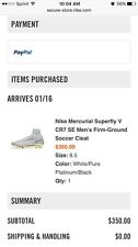Nike Mercurial Superfly V CR7 SE Men's Firm-Ground Soccer Cleat Size 8.5