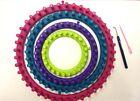 6tlg. Strickring Set Strickrahmen Knitting Loom mit Anleitung Strickliesel Haken