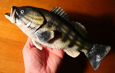 Large Realistic Bass Game Fish Fisherman Cabin Fishing Lodge Home Decor Figurine