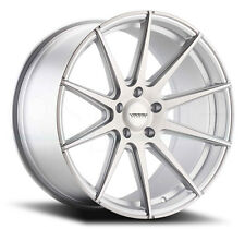 19X9.5 Varro VD10 5x120mm +45 Matte Silver Brushed Face Rims (Set of 4)