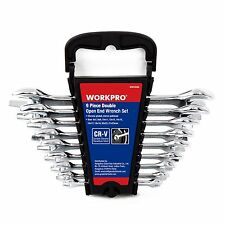 WORKPRO 9PC Double Open Ended Wrench Set Metric Cr-V Long Combination 6-23mm New