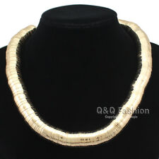 Bold 13mm Ball Snake Chain Egypt Cleopatra Vintage Gold Choker Bib Necklace W8
