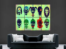 Suicide squad movie film affiche cinema wall art comics imprimer image giant large