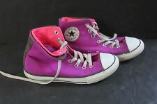 Converse girls All Star 3 high top sneakers Chuck Taylor good condition magenta