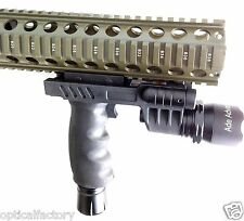 Rifle Vertical Foregrip Grip + 450 Lumen Flashlight and Green Laser Combo Sight