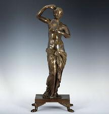 Grand Tour Bronze Skulptur Italien 1840 Venus mit Spiegel Figur Statue