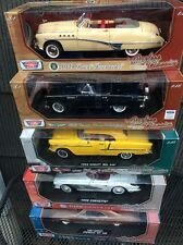 5X1:18 1967 Chevelle 1958 Corvette 1955 Bel Air 1956 Thunderbird 1949 Roadmaster