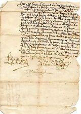 REGION AUVERGNE / LETTRE DOCUMENT MANUSCRIT 1669 Latin Vieux Français