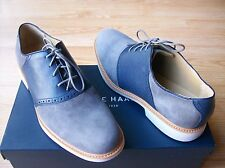 Cole Haan Great Jones Saddle II Shoes Mens Oxford Leather & Suede Gray sz 8 NIB