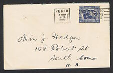 1945 3½d Peace on commercial cover NS778