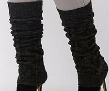 Lane Bryant Leg Warmers BLACK Cable Knit Ribbed Cuffs NEW with TAGS ONE SIZE