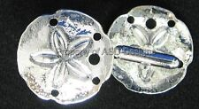 1pr Sterling Silver Plate Nautical Sanddollar Mens Cuff Links 6351