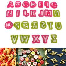 26 Letters Alphabet Plastic Cake Cookie Cutters Sugarcraft Fondant Baking Mold