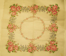 Vintage Franshaw Rose design Handkerchief Hanky with original tag Lavender Pink