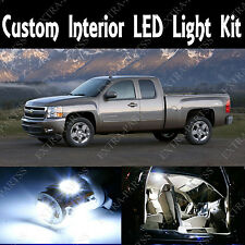 15 Pieces SMD White LED Lights Interior Package for 2007-2013 Chevy Silverado