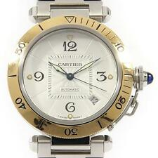 Authentic Cartier  Pasha Gold & Steel  Automatic  #260-001-799-5108