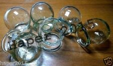 Glass Fire Cupping Cups Vintage SET of 6 glass Health for medical massage Best!