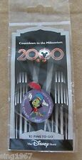 Jiminy Cricket Give a whistle  #83 Disney Store 2000 Countdown to Millennium Pin
