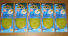 Olfa RB45 45mm Rotary Cutter Spare Blade - 5 Blades ( fit RTY-2/G and RTY-2/DX )