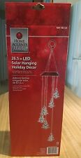 "New in Box, 26.5"" LED Solar Hanging Christmas Tree Shapes Holiday Decor"