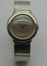 Vintage OBREY Paris France Solid Sterling Silver Bracelet Ladies Modernist Watch