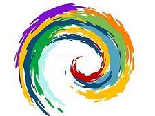 Impresión arte cartel Pintura Dibujo Abstracto Rainbow remolino diseño lfmp0917