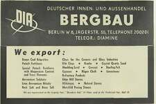 1953 Dia Bergbau Berlin Diamine Export Agents Ad