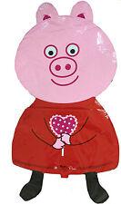 """36 """"rosado del cerdo con el vestido de rojo en forma de globo de la hoja CS169"""