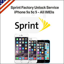Sprint USA Factory Unlock Service iPhone 5s 5c 5 4s Premium All IMEIs