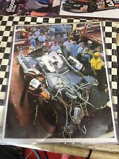 DALE EARNHARD 11x14 PHOTO IMAGE TALLADEGA CRASH CAR ACRYLIC 2 SIDED HOLDER BUY 2