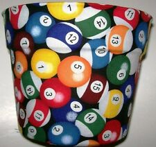 BILLIARD POOL BALLS  PLANTER FLOWERPOT PARTY GIFT WRAP BASKET SUPPLIES CONTAINER