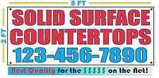 SOLID SURFACE COUNTERTOPS w CUSTOM PHONE Banner Sign Best Quality for The $