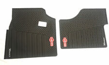 Kenworth T680 OEM Black Rubber Floor Mats W/Logo for 2013-2016 -2PC All-Weather